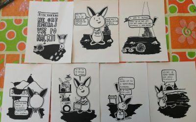 Pohvala za strip Živi Gnezda na likovnem natečaju »Protistrip«
