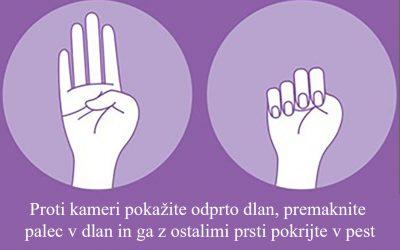 Mednarodni znak za pomoč v primeru nasilja v družini