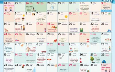 Počitniški koledar zdravja 2021